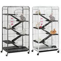 52'' Large Ferret Cage 6 Level Kitten Rabbit Chinchilla Animal Cage w/ Wheels