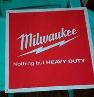 Milwaukee heavy duty advertising metal sign vintage advertisement 12x12 50006