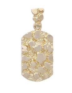 14k Yellow Gold Nugget Design Fashion Charm Pendant 8 grams 35 MM x 19 MM