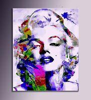 QUADRO MODERNO Marilyn Monroe dipinto a mano pop art astratto dipinto italiano
