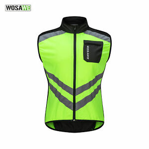 Hi-Vis Reflective Motorcycle Hi Vest Motorbike Waistcoat Jacket Cycling Green