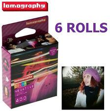 6 Rolls X Lomography LOMO 400 ISO Color Negative 120 Medium Format Print Film