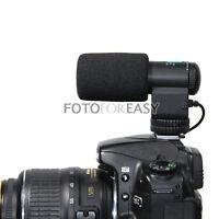 PRO Shotgun Stereo Microphone for 3.5mm MIC DV DSLR Canon 5D II 7D 550D 600D 60D