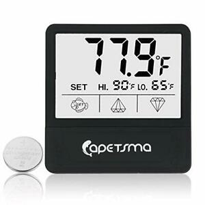 Aquarium Thermometer, Digital Touch Screen Fish Tank Thermometer With (black)