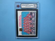 1975/76 TOPPS NHL HOCKEY CARD #90 MONTREAL CANADIENS CHECKLIST NM/MINT+ KSA 8.5