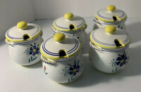 5 Shafford Italy Strata Group Lorient Hand Painted Sugar/ Condiment Bowls