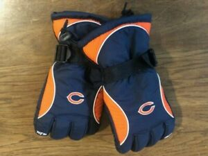 """NFL Winter Gloves - Chicago Bears (Men's LG size) with """"NFL"""" on fingers - Unused"""