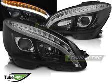 LED Tagfahrlicht Optik Scheinwerfer Mercedes-Benz C-Klasse W204 07-10 schwarz
