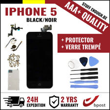 AAA+ LCD SCREEN SCHERM ÉCRAN ASSEMBLY BLACK NOIR+TOOLS&VERRE TREMPÉ FOR IPHONE 5