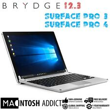 Brydge 12.3 Backlit Aluminium Keyboard Cover For Microsoft Surface Pro 3/4