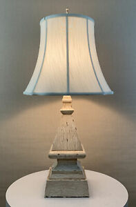 Vintage Shabby Chic Farmhouse Country Home Faux Wood Table Lamp