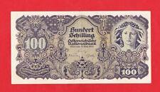 100 Schilling von 1945, Original Banknote in *XF* Erhaltung!
