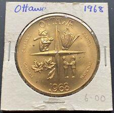 1968 Ottawa Ontario Trade Dollar $1 Token - National Capital