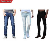 Fashio Mens Skinny Casual Slim Fit Fashion Denim Jeans Pants Trousers