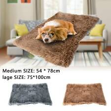 Soft Fluffy Pet Puppy Blanket Mattress Cosy Warm Dog Cat Bed Sleep Mats Kennel