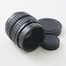 """35mm f/1.7 2/3"""" C Mount CCTV Objektiv körper für Micro 4/3 Sony NEX P/Q schwarz"""