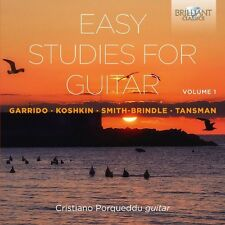 CRISTIANO PORQUEDDU - EASY STUDIES FOR GUITAR VOL.1  2 CD NEU GARRIDO/KOSHKIN