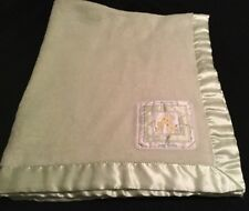 """Carters Green Luxe Satin """"Baby Love"""" Giraffe Square Baby Blanket"""