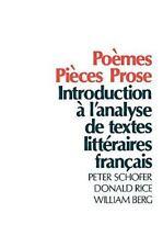Pomes, Pices, Prose: Introduction  l'analyse de textes littraires franais