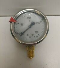 New Old Stock Wika 25 0 400 Bar 14 Lower Pressure Gauge 23254 25 400bar 1