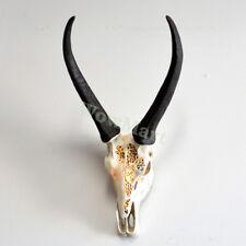 Home Decor Wall Mount Sculpture Resin LED Light Antelope Head Antlers 44x28cm