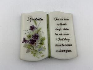 hallmark grandmother purple plaque stand home decor