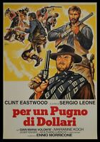 Manifesto Per Un Puño Por Dólares Sergio Leone Clint Eastwood Volonte Cine P13