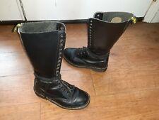 Dr. Martens 17 Eyelet Combat Boots Black Women's size 8.5