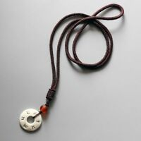 Tibetan Buddhist Rope Necklace Chain Amulet Handmade Nut Pendant Fashion Jewel