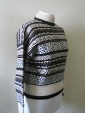 1970s 1980s JUMPER St Michael Label M&S Fair Isle Nordic Brown Cream Ski Sz 12