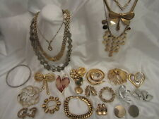 Timeless Vintage Classic Goldtone Silvertone Signed Jewelry Lot