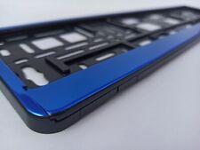 Blue CHROME style holder for EURO license plate frames FOR ALL CARS