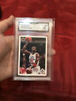1991 UPPER DECK #48 CHECKLIST MICHAEL JORDAN GMA 10 GEM MINT = POSSIBLE PSA 10!!
