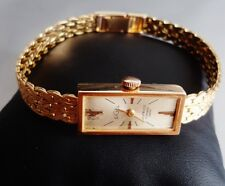 SIGEL SWISS MADE LADY WATCH MANUAL WINDING 17 RUBIS GOLD 18KT MONTRE OR FEMME