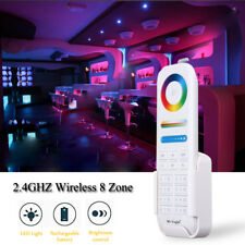 Mini  2.4G RF Wireless LED Controller 8-Zone Dimmer RGB+CCT Smart Touch Remote
