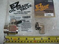 Caterpillar 3126 3406E C10 C12 C15 EZ Oil Drain Valve & 90° Hose End EZ205 L002