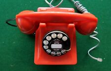 VINTAGE WESTERN ELECTRIC #302 RED THERMOPLASTIC TELEPHONE