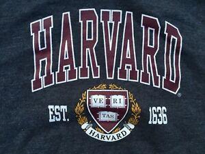 Harvard University Crest Dark Gray Hoodie Sweatshirt Men's Size XL