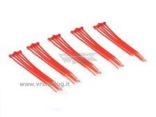 25 FASCETTE CABLAGGIO PLASTICA NYLON COLORATE ROSSE CABLE TIES 25PZ 100mm VRX