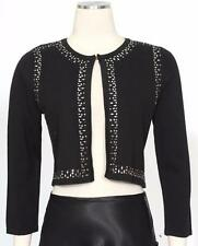 CALVIN KLEIN Black Sz PXS Women's Evening Shrug Jacket Top $59 New