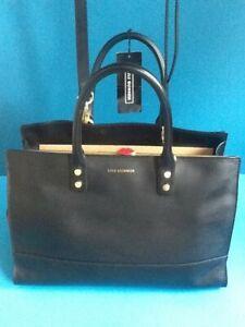 Lulu Guinness Black Smooth Leather Medium Daphne Bag BNWT RRP £425