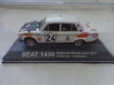 IXO DEAGOSTINI 1/43 - SEAT 1430 - MONTE CARLO RALLY 1977 - DIECAST CAR