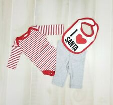 Modern Baby Christmas Outfit Set 3-6 Months Boy Girl Santa Bodysuit Shirts Pants