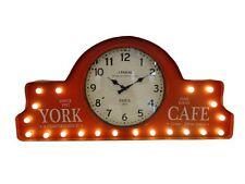 Orologio led luci luminoso rosso in metallo Cafe caffè cas pub bar