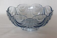 Glass Art Glass Vintage 1930 Painted Green Bagley Art Deco Frosted Glass Somerset Posy Bowl 3170 Modern And Elegant In Fashion
