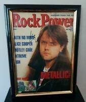 METALLICA - HAND SIGNED BY LARS ULRICH - WITH COA - FRAMED MAGAZINE COVER