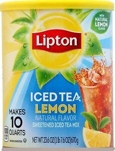 Lipton Iced Tea Natural Lemon Drink Mix 670g, Makes 10 Quarts