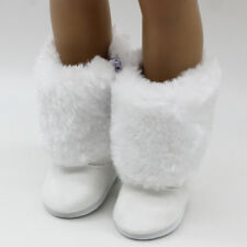 18Inch American Girl Dolls White Fur Snow Boots Shoes Doll Accessory Gift TecA