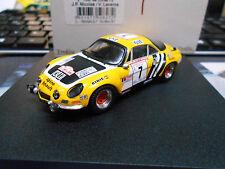 Renault alpine a110 1800 rallye tdc Corse 1975 #7 Nicolas jaune onze trofeu 1:43
