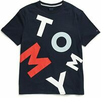 Tommy Hilfiger Mens T-Shirt Blue Size XL Logo Graphic Crewneck Tee $39- 402
